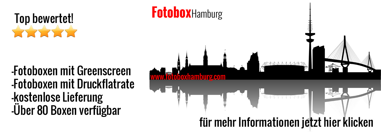 Fotobox Hamburg - Fotobox mieten in Hamburg mit Greenscreen und LIeferung